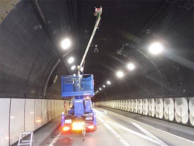 道路トンネル多探査状況