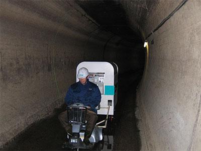 トンネル撮影状況
