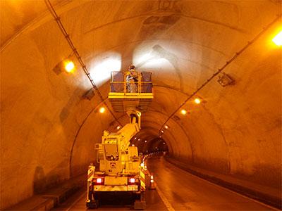 トンネル点検状況